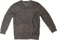 [img-6970-left-thickbox_default] Pull Allsize Gamme Greyes composé de 92 % coton et 8 % lycra Coloris Gris Chiné Col V et finition bord côtes