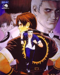 king of fighters king of fighters 97 shinkiro back black hair brown hair earrings headband japanese language jewelry male piercing running short hair text text: series name white hair Neo Geo, Art Of Fighting, Fighting Games, Videogames, Snk Games, Arcade, Snk King Of Fighters, New Challenger, 8 Bits