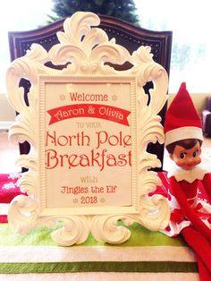 Elf on the Shelf Ideas - North Pole breakfast with elf on the shelf