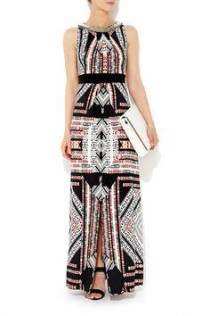 Stone Print Embellished Maxi Dress  #WallisFashion