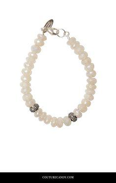 Heather Gardner - Pearl Chalcedony Diamond Bracelet | www.couturecandy.com