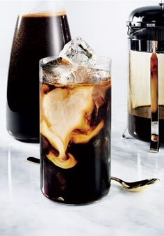 ~Kitchen French Press: Iced coffee  #Aesthetics  #Design #Elegance #Interiors #Minimalist