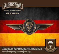 German Military Parachutist Badge. (German Airborne Wings)