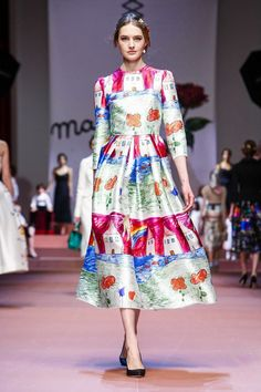 Dolce  & Gabbana Ready To Wear Fall Winter 2015 Milan Fashion Week