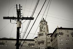 utility poles look like crosses