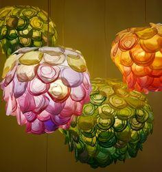 Hand woven paper lamps by Tomomi Sayuda