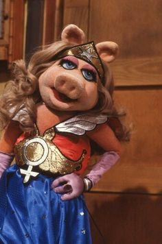 Miss Piggy as Wonder Woman