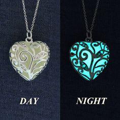 Glow-in-the-Dark Jewelry  Buy today - Ship Tomorrow Aqua Glowing Necklace Glowing Pendant Glow in the Dark Necklace GLOW003 (19.95 USD) by GlowIntoTheNight