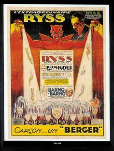"""RYSS . """"L'extraordinaire Ryss Garçon... un """" Berger """""""".Lithographie en"""