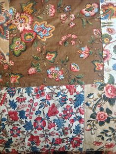 Glazed furnishing fabric from a bed cover c1815