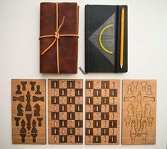 Wooden and foldable chess game