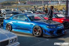 Garage Mak Built Nissan Silvia S15 with Revolution Type 5 Aero Kit, Blister Fenders & Front & Rear Carbon Fibre Canards @ Stance Nation Japan via Street Cover