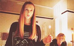 Evan Peter and Taissa Farmiga on American Horror Story. The perfection is too much...