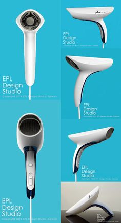 Hair Dryer - Easy Guidelines To Help You Style Hair Beautifully Industrial Design Portfolio, Industrial Design Sketch, Portfolio Design, Id Design, Shape Design, Rolling Makeup Case, Medical Design, Web Design Inspiration, Hair Dryer