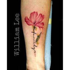 I think this will be my first tattoo ,.by addin the date of her birth (my grandm… Ich denke, dies wird mein erstes Tattoo sein. Watercolor Orchid Tattoo, Poppies Tattoo, Mini Tattoos, Cool Tattoos, Tatoos, Girly Tattoos, Orchid Flower Tattoos, Neue Tattoos, Tattoo Project