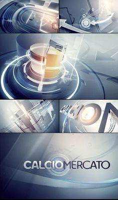 CalcioMercato by Angelsign Studio, via Behance Graph Design, My Design, Logo Design, Motion Graphs, Channel Branding, Background Design Vector, Interface Design, Web Design Inspiration, Motion Design