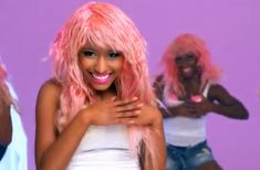 I might be crazy, but for Halloween I'm considering dyeing my hair pink to make my Nicki Minaj costume legit.