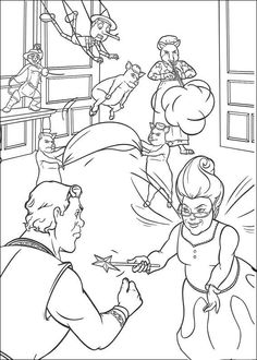 Coloriage Dessins. Shrek 76