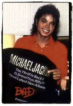 Michael Jackson with his BAD promo jacket:)❤