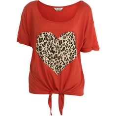 Leopard Heart Tee ($18) ❤ liked on Polyvore featuring tops, t-shirts, shirts, blusas, women, shirt tie, leopard print t shirt, t shirts, leopard t shirt and leopard shirt