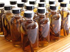 Homemade pure vanilla extract