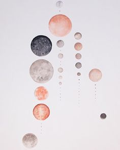 "we've received a lot of requests for larger prints of my painting of All the Moons of our Solar System and I'm excited to announce that a limited number of 20 x 30"" prints are now available!  for a full list of available prints see stellamariabaer.com; for a catalog of available paintings write info@stellamariabaer.com"