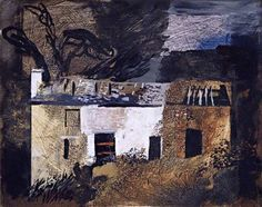 yama-bato:  Ruined Cottage, Llanthony  by John Piper
