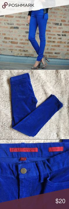 Banana Republic Limited Edition Skinnies This is a re-posh. Cobalt blue Banana Republic Limited Edition skinny corduroys.  Really beautiful color. The seller said they were brand new. I never wore them, but I did wash them.  So like new condition. Banana Republic Pants Skinny