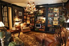 Pictures hung from front of bookcases - Equestrian Design Ideas, Pictures, Remodel and Decor