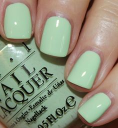 """OPI Nail Lacquer Brand New """"That's Hula-rious"""" Part of OPI's Hawaii collection. Bundle 3 items for off and get a free gift! BOGO off whole closet sale OPI Other Green Toe Nails, Mint Green Nail Polish, Mint Green Nails, Opi Nail Polish Colors, Toe Nail Color, Pastel Nails, Opi Nails, Nail Colors, Gel Nails"""