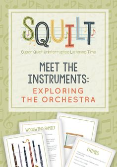 Music resource for homeschool families | Meet the Instruments: Exploring the Orchestra Music Lessons For Kids, Piano Lessons, Kids Music, Bible Lessons, Teaching Music, Teaching Tips, Learning Piano, Teaching Orchestra, Early Learning