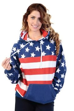 Unisex Proud American Flag Pullover H... $29.99