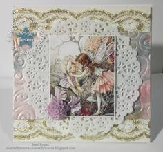 Fairies, nymphs, dragons, all the creatures of myth & legend this fortnight at the Sisterhood! I decided to go with flower fai. Nymphs, Greeting Cards Handmade, I Card, Fairies, Creatures, Design, Hand Made Greeting Cards, Faeries, Design Comics