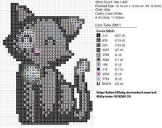 Вышивание крестиком схема кота