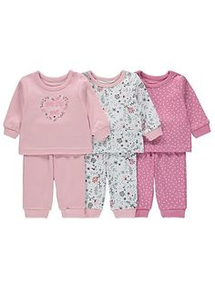 3 Pack Assorted Print Pyjamas, read reviews and buy online at George at ASDA. Shop from our latest range in Baby. Prettify their nightly rotation, with the a...