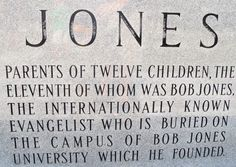 Later Joneses erected this monument in 1976 at the graves of Alex Jones and Georgia Creel Jones in Dothan, Alabama.