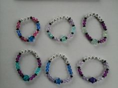 Check out this item in my Etsy shop https://www.etsy.com/listing/216250572/girls-beaded-name-bracelet-featuring