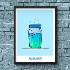 Slurp Juice vector illustration inspired by Fortnite Battle Royale. This illustration is available as an A4 or A3 print. Made to order. Printed on high-quality glossy photo paper and shipped worldwide.