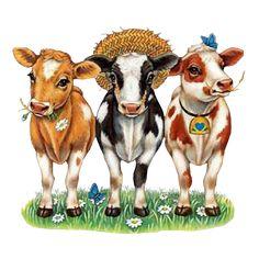 vaches humoristiques - Résultats d& Image Search Farm Animals, Cute Animals, Cow Pictures, Cow Painting, Cute Cows, Cow Art, Cute Clipart, Art Impressions, Cute Illustration