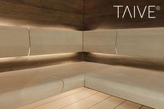 TAIVE sauna product line provides complete solutions for sauna interiors. It´s smooth, elegant design creates a harmonious atmosphere in your sauna as well as other interiors in your spa. In addition, thoughtfully designed Cariitti lighting solutions emphasize the surfaces and shapes of the materials. TAIVE interior is a timeless, long-lasting design solution that will create unforgettable sauna experiences for you and your guests. Lighting Solutions, Tile Floor, Smooth, Spa, Shapes, Interiors, Elegant, Create, Design
