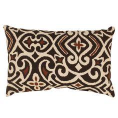 Pillow Perfect Brown/ Beige Damask Rectangular Throw Pillow | Overstock.com Shopping - Great Deals on Pillow Perfect Throw Pillows
