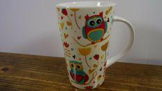Owl Mug Coffee Cup home essentials Tall Latte Mug Comical Colorful Owls NEW Mug #HomeEssentials #AllOccasions