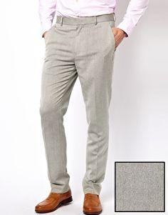 Image 1 of ASOS Slim Fit Oxford Smart Pants