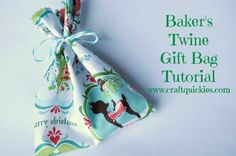 Bakers Twine Neighbor Gift Bag Tutorial from Craft Quickies