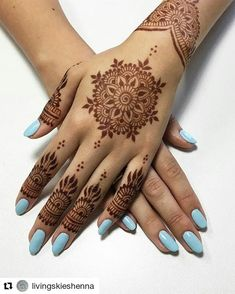 Hey and will be under the same roof on October and to bring you something special. Stephanie will give you the best gel mani of your life then I'll adorn you with some gorgeous natural Book online through her website-link in her bio-and hurry because … Mehndi Designs For Beginners, Mehndi Designs For Girls, Unique Mehndi Designs, Wedding Mehndi Designs, Mehndi Designs For Fingers, Mehndi Design Images, Beautiful Henna Designs, Simple Mehndi Designs, Henna Tattoo Hand