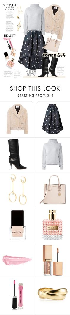"""""""Polka Dots Style"""" by ellie366 ❤ liked on Polyvore featuring Acne Studios, Ganni, Aquazzura, Le Kasha, Chloé, MICHAEL Michael Kors, Context, Valentino, By Terry and Stila"""