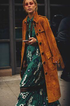 Уличный слить: фото модных образов с Недели моды в Нью-Йорке, часть 1 | Мода | STREETSTYLE | VOGUE