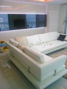 Leather L-Shape Sofa - Madeira Max2616