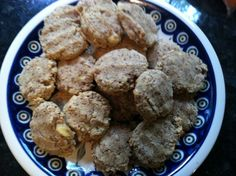 Soft Cinnamon Banana Cookies (grain-free) - almond meal, coconut flour, baking powder, baking soda, cinnamon, vanilla, coconut oil, honey, eggs, bananas
