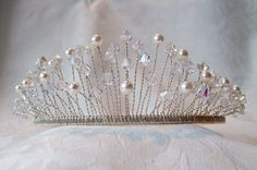 Swarovski crystal & pearl wedding tiara perfect by fromthemagpie, £45.00 - Made by me for you x